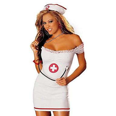 ازياء الوظيفي الممرضات أزياء Cosplay أزياء الحفلة نسائي موحدة خدمات المستشفى كريسماس عيد الميلاد Halloween السنة الجديدة عطلة / عيد كوستيوم هالوين ملابس ألوان متناوبة