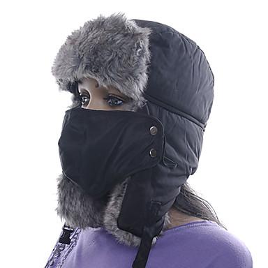 Gorro Chapka Chapéu de Pelo Esqui Chapéu Máscara Facial Mulheres Homens Unisexo Térmico/Quente Pranchas de Snowboard Algodão Clássico