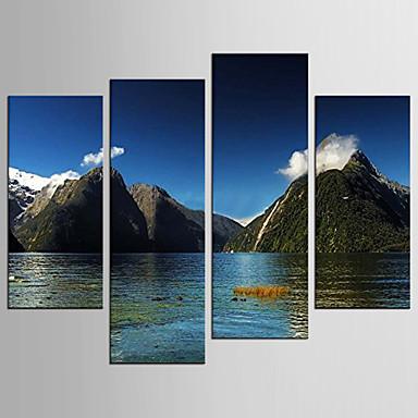 名画 風景 クラシック 近代の,4枚 キャンバス 任意の形状 プリント 壁の装飾 For ホームデコレーション