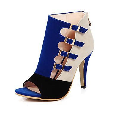 Femme Chaussures Laine synthétique Printemps / Eté Sandales Talon Aiguille Bout ouvert Noir / Rouge / Bleu / Soirée & Evénement / Soirée & Evénement