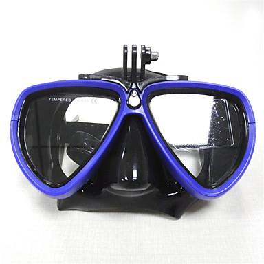 Svømmebriller / Snorkelmaske Anti-Tåke, UV Beskyttelse, Vanntett Dykking, Svømming Gummi, Herdet glass Til Voksen