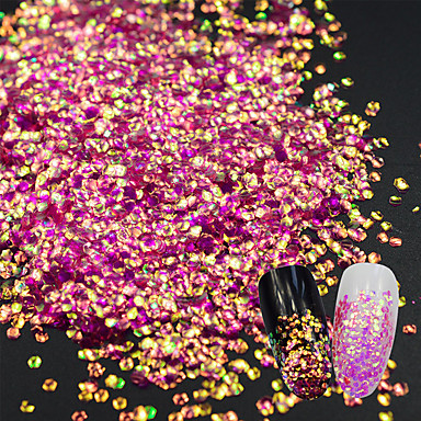 1 pcs Brillante Lentejuelas arte de uñas Manicura pedicura Diario Glitters / Moda