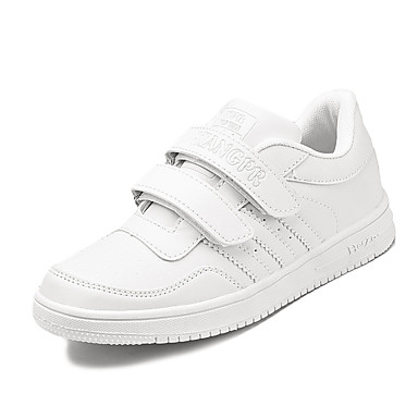 Jungen-Sportschuhe-Outddor Sportlich-PU-Flacher Absatz-Komfort-Weiß