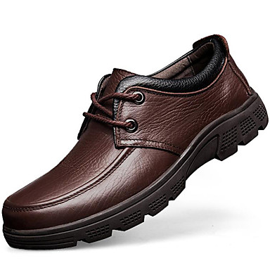 Men's Nappa Leather Fall / Winter Comfort Oxfords Black / Coffee / Party & Evening