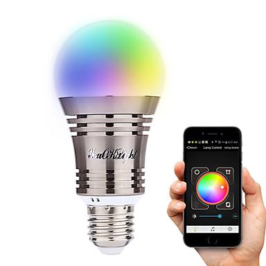 YouOKLight 6.5W 500-550 lm E26/E27 مصابيح صغيرة LED A60(A19) 8 الأضواء طاقة عالية LED بلوتوث ديكور أبيض دافئ أبيض كول أبيض طبيعي RGB أس