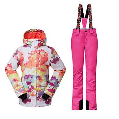 Skikleidung Ski/Snowboard Jacken Damen Winterkleidung Polyester Kleidung für den WinterWasserdicht Atmungsaktiv warm halten