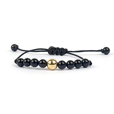 Damen Strang-Armbänder individualisiert Einstellbar Perlenbesetzt Europäisch Edelstein Achat Unendlichkeit Schmuck Für Alltag Normal