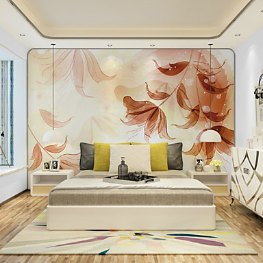 Veggmaleri Lerret Tapetsering - selvklebende nødvendig Blomstret / Art Deco / 3D