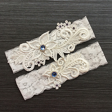 Renda Clássico / Fashion Wedding Garter Com Pedrarias / Renda Ligas