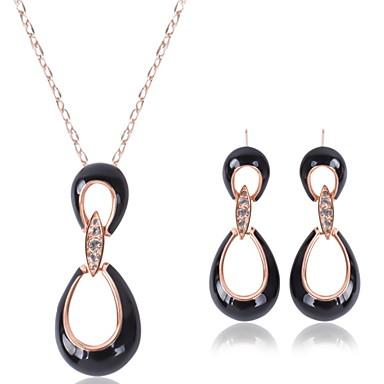 Mulheres Conjunto de jóias - Strass Incluir Preto Para Casamento / Festa / Colares