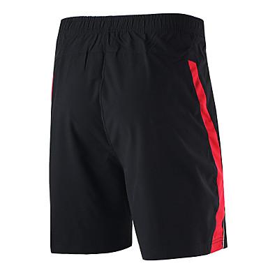 Arsuxeo Homens Shorts de Corrida Secagem Rápida Respirável Macio Materiais Leves Tiras Refletoras Reduz a Irritação Shorts Calças Ioga