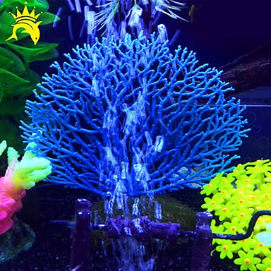 billige Tilbehør til fisk og akvarium-Akvarium Dekorasjon 3 deler Korall Kunstig Harpiks
