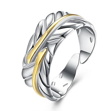 Damen Ring - Kupfer Blattform Grundlegend Verstellbar Gold Für Party / Büro / Geschäftlich / Alltag