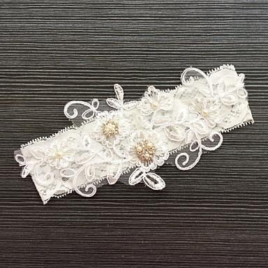Renda Clássico / Fashion Wedding Garter Com Pedrarias / Renda Ligas