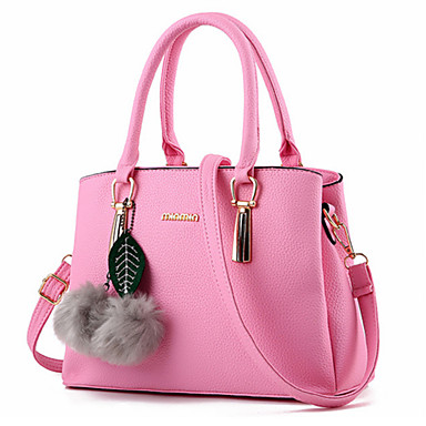 Women's Bags PU Tote Rivet for Event / Party Formal Office & Career All Seasons Purple Fuchsia Wine Blushing Pink Light Purple