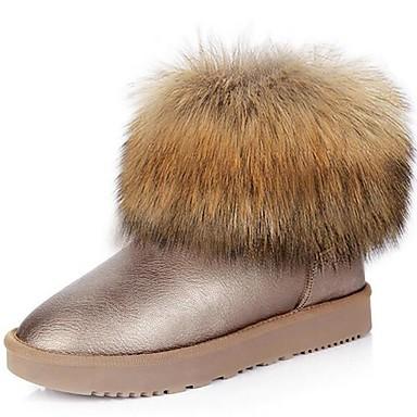 Damen Stiefel Gladiator Schneestiefel Modische Stiefel Stiefeletten Kunststoff Frühling Herbst Winter Normal KleidGladiator Schneestiefel