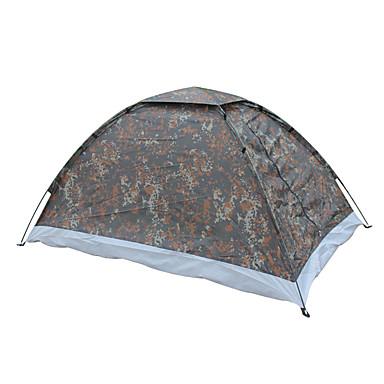 Wasserdicht Atmungsaktivität Staubdicht Winddicht Extraleicht(UL) Anti - Moskito Klappbar Transportabel Einzimmer Zelt Tarnfarben