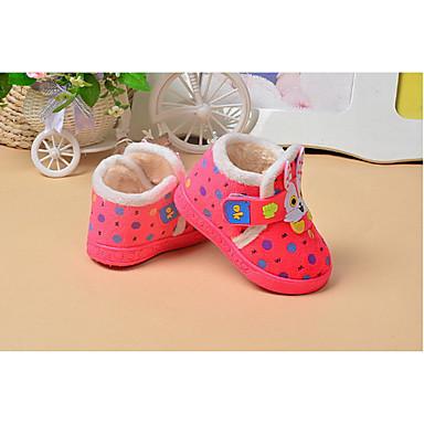 キッズ 赤ちゃん 靴 繊維 冬 赤ちゃん用靴 フラット 用途 カジュアル Brown ピンク