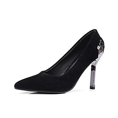 Aiguille Nouveauté Femme 06083883 Talons Similicuir Chaussures Rouge Confort à Printemps pointu Bout Chaussures Noir Talon Vert Automne 1C1vwUq