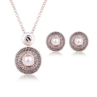Imitierte Perlen Aleación Gold 1 Paar Ohrringe Halsketten Für Hochzeit Party Alltag Normal 1 Set Hochzeitsgeschenke