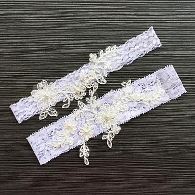 Blonder Klassisk Mote Bryllupsklær  -  Rhinsten Blonder Strømpebånd