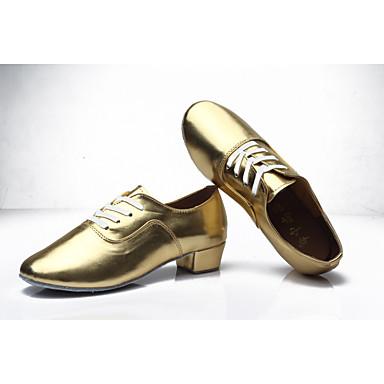 Homme Chaussures Latines Similicuir Talon Talon Talon Talon Bas Personnalisables Chaussures de danse Blanc / Noir / Argent / Intérieur / Utilisation dbcb56