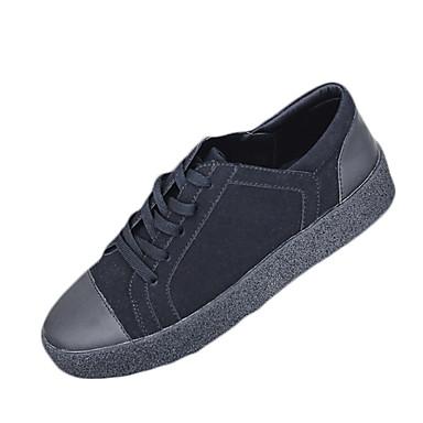 Herren-Sneaker-Outddor Lässig-PU-Flacher AbsatzSchwarz Grau
