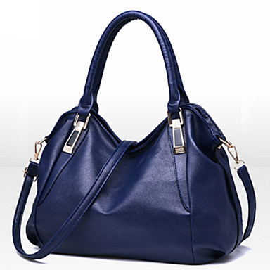Women's Bags PU Tote Rivet for Event/Party Formal Office & Career All Seasons Blue White Black Wine Brown