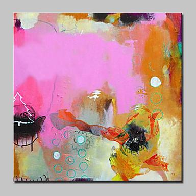 ハング塗装油絵 手描きの - 抽象画 近代の / 欧風 キャンバス / ストレッチキャンバス