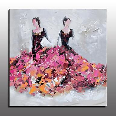 Pintura al óleo pintada a colgar Pintada a mano - Personas Estilo europeo Modern Lona