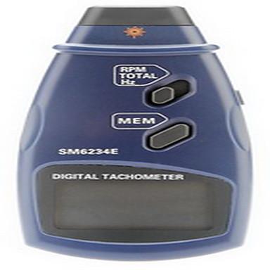 professionel digital laser foto berøringsfri omdrejningstæller rpm tach gauge (2,5 ~ 999.9rpm, 0.1rpm / 1 rpm)