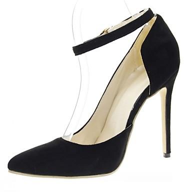 Mulheres Sapatos Courino Couro Ecológico Verão Outono Conforto Solados com Luzes Saltos Caminhada Salto Agulha Dedo Apontado Presilha para