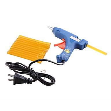 Herramientas para Extensiones Pellets de pegamento 1Pcs US Plug Glue Gun + 12Pcs Glue Sticks Diario Clásico Marrón Amarillo Negro