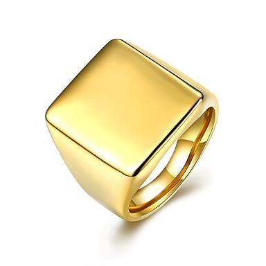 Ring Schmuck Modisch Europäisch Stahl Gold Schmuck Für Party Normal 1 Stück
