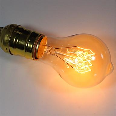 1pç 40 W E26 / E27 A60(A19) Branco Quente 2300 k Retro / Regulável / Decorativa Incandescente Vintage Edison Light Bulb 220-240 V