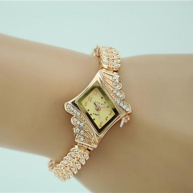 cheap Quartz Watches-Women's Bracelet Watch Diamond Watch Gold Watch Quartz Gold Imitation Diamond Analog Ladies Charm Fashion Elegant Dress Watch - Gold One Year Battery Life / Tianqiu 377