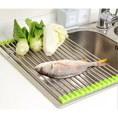 1pç Prateleiras e Suportes Aço Inoxidável Fácil Uso Organização de cozinha