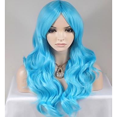 Pelucas sintéticas Ondulado Amplio Pelo sintético Azul Peluca Mujer Larga / Muy largo Sin Tapa
