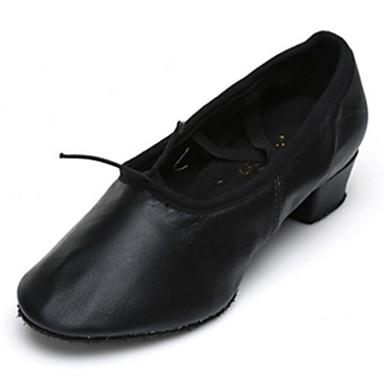Mujer Zapatillas de Ballet Semicuero Tacones Alto Tacón Bajo Personalizables Zapatos de baile Negro / Rojo / Rosa / Interior