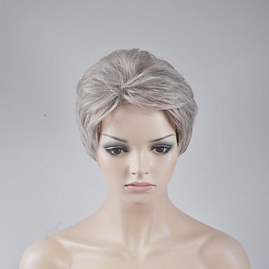 Pelucas sintéticas Ondulado Amplio Rubio Corte Bob Pelo sintético Rubio Peluca Mujer Corta Sin Tapa