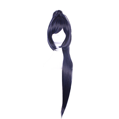 Synthetic Wig / Cosplay & Costume Wigs Straight Asymmetrical Haircut Synthetic Hair Natural Hairline Black Wig Women's Long Capless