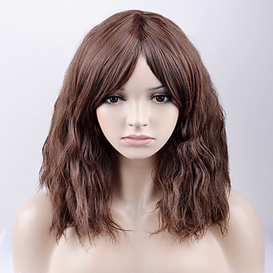 Synthetic Wig Loose Wave Brown Ash Brown Synthetic Hair Women s Brown Wig  Medium Length Capless a3b8add85884