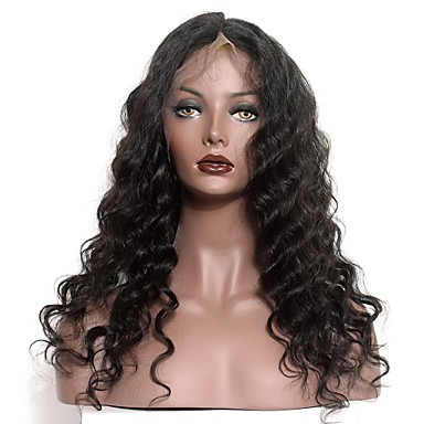 In Stock 14-18inch Loose Wave With Baby Hair Lace Front Wigs 100% Brazilian Virgin Human Hair Wig For Women