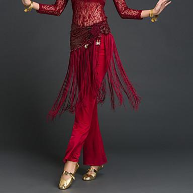 Dança do Ventre Lenços de Quadril para Dança do Ventre Mulheres Espetáculo Poliéster Mocassim Xale de Dança do Ventre