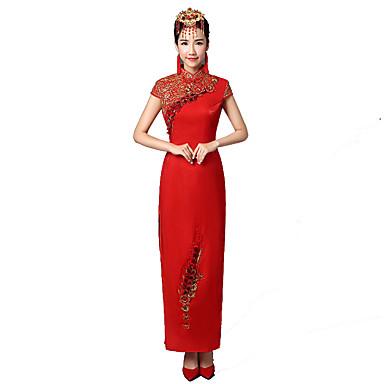 Klassisk og Tradisjonell Lolita Vintage Inspireret Elegant Dame Cosplay Kortermet Lang Lengde