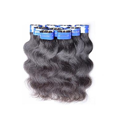 40pcs 2 kg lot Vente en gros cheveux vierges ondes de corps 100% des extensions 5a bon marché de cheveux humains brésiliens color1b