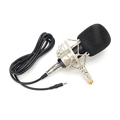abordables Microphones-3.5mm Microphone A Fil Microphone à Condensateur Microphone à Main Pour Microphone de Karaoké