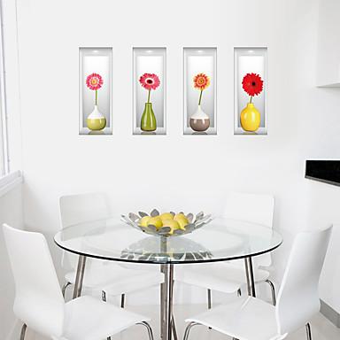 Autocolantes de Parede Decorativos - Autocolantes 3D para Parede Moda / Floral / 3D Sala de Estar / Quarto / Banheiro