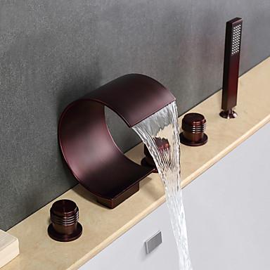 Badekarskran - Moderne Olje-gnidd Bronse Badekar Og Dusj Keramisk Ventil