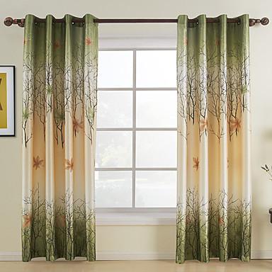 Vorhänge drapiert Wohnzimmer Blatt 100% Polyester / Polyester Druck & Jacquard